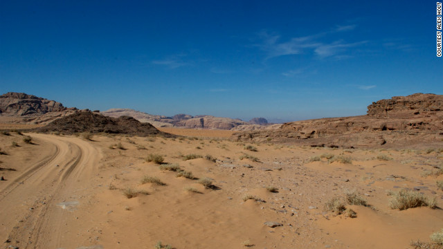 The emptiness of the Wadi Rum.