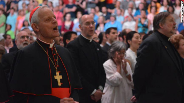 Cardinal Donald Wuerl, archbishop of Washington, sings at a Fortnight for ...