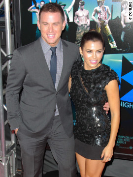 "Channing Tatum and Jenna Dewan attend the ""Magic Mike"" premiere in Los Angeles."