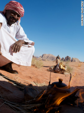 Most camps offer tent or under-the-stars accommodation, and meals cooked in the Bedouin style.
