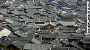 View of Lijiang in Yunnan province