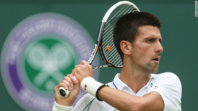 Serbia's Novak Djokovic begin the defense of his men's singles title on Centre Court at Wimbledon
