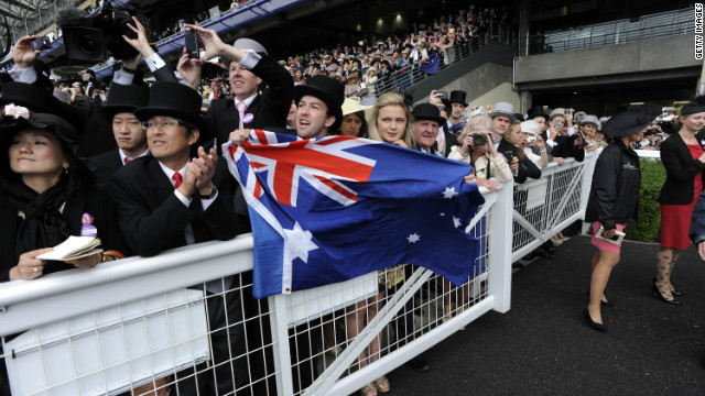 Australian fans flocked to the British meeting to back Black Caviar in her first race on foreign soil.