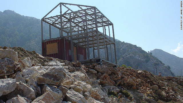 Structural engineer James Green filed a patent for the design in 2008 which was recently granted. Here is a prototype which he is building in Fethiye, Turkey.