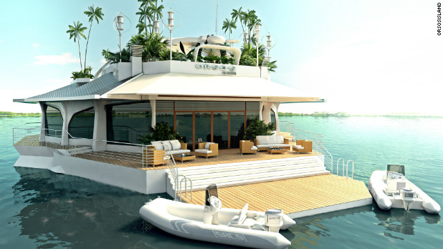 "The ""Orsos Island"" will set you back a hefty $6.5 million. Less than the average gigayacht, substantially more than the average house-boat."