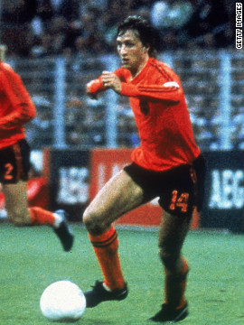 Johan Cruyff's influence on football cannot be underestimated. A part of the Netherlands side that was said to play &quot;total football&quot; he then instigated a similar style of play when he was coach at Spanish club Barcelona. The fruits of that labor are now reaping rewards for the Catalan club, and the national team, who followed their lead.
