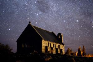 Cielo cubierto de estrellas, Cuenca Mackenzie, Nueva Zelanda