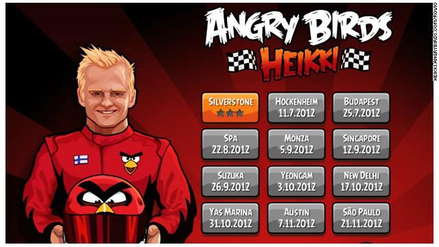 """""""Angry Birds"""" arranca en la Fórmula Uno"""