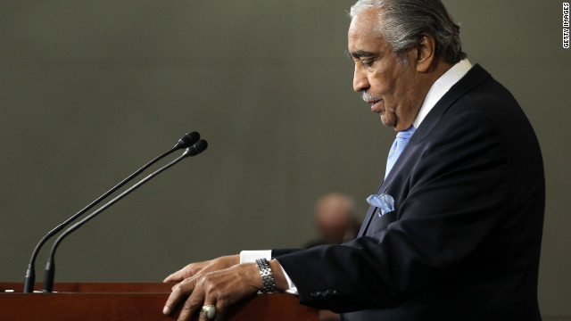 Rangel speaks to the media after he was censured by his colleagues in the House on December 2, 2010.