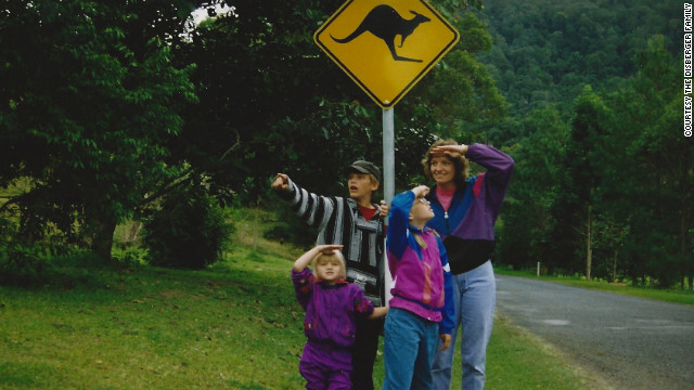 Martha and the kids keep a lookout for kangaroos on Australia's Gold Coast. How does she wrangle kids and a complicated travel itinerary? &quot;Excedrin and deep breathing work,&quot; she jokes. &quot;Wine helps.&quot;