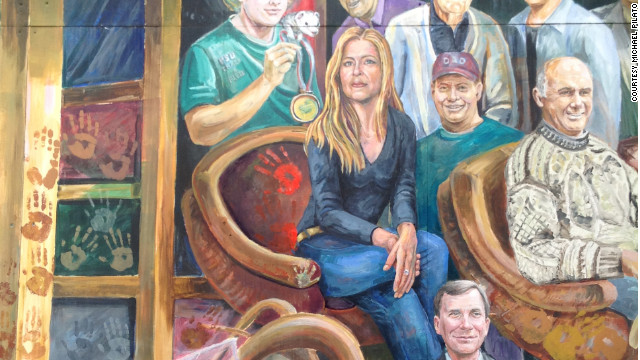 An artist removed Jerry Sandusky's image from a Penn State mural.