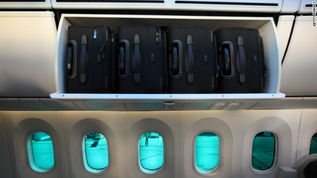 Airline baggage charges mean many fliers now pack as much as possible into their carry on luggage