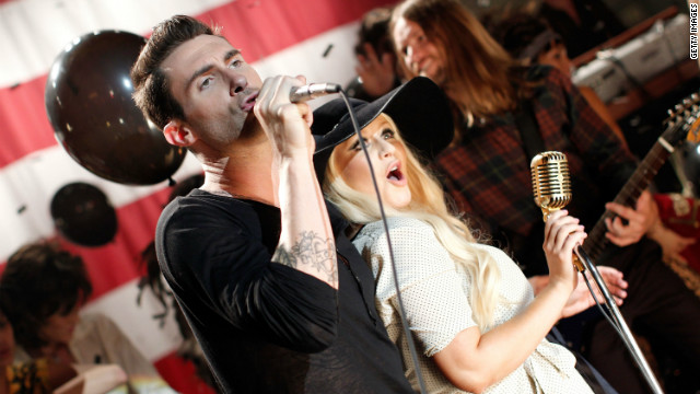 Adam Levine denies he's feuding with Christina Aguilera