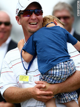 Duval has had glimpses of a return to his former glory. In 2009 he tied for second at the rain-hit U.S. Open, which stretched to a fifth day. He was joined by son Brayden for the trophy presentation.