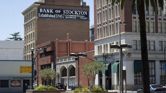 The old Bank of Stockton building stands in Stockton, California.