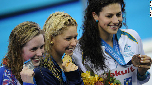 Later in 2011 she began her swimming rehabilitation by winning bronze in the 400m IM at the world championships in Shanghai.