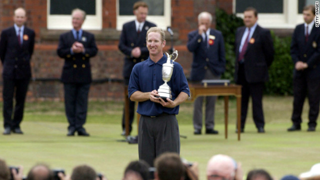 This month he returns to the scene of his greatest triumph, Royal Lytham and St. Annes Golf Club in England where he made an emotional speech after winning the 2001 British Open.