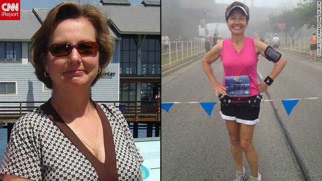 <a href='http://ireport.cnn.com/docs/DOC-796779'>Karen Waldkirch</a> before and after her high-tech fitness kick with Fitocracy.