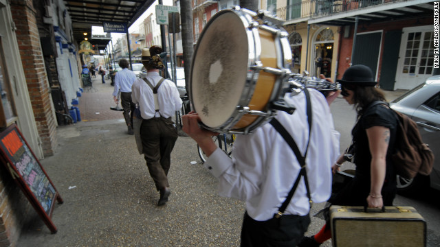 "There's no shortage of captivating characters in the Crescent City year-round, especially in the French Quarter. Neglect to mingle and you could find yourself ""<a href='http://www.cnn.com/2012/07/05/travel/new-orleans-broom-strummer/index.html'>Singing the Broom Strummer blues</a>."""