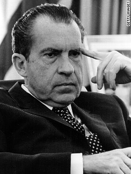 President Richard Nixon claimed executive privilege over taped conversations regarding the Watergate break-in in an attempt to keep the tapes out of a congressional investigation. The Supreme Court ruled that executive privilege is not ironclad.