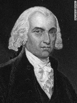 Marbury v. Madison (1803): When Secretary of State James Madison, seen here, tried to stop Federal loyalists from being appointed to judicial positions, he was sued by William Marbury. Marbury was one of former President John Adams' appointees, and the court decided that although he had a right to the position, the court couldn't enforce his appointment. The case defined the boundaries of the executive and judicial branches of government.