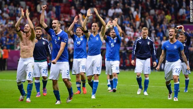 Italia y España jugarán la final de la Eurocopa 2012