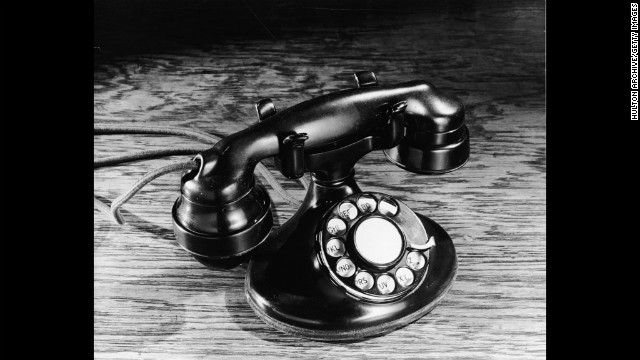 The telephone has come a long way from the 1930s, when rotary dial models such as the one pictured here were popular, to the iPhones and BlackBerrys we carry today. Click through to see a visual history of the telephone.