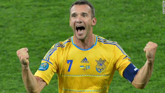 Ukraine were the other team to welcome Europe's finest, but the co-hosts fell behind in their opening match with Sweden. Step forward Andriy Shevchenko, the legendary striker who scored a second-half brace to delight the nation and secure a 2-1 win.