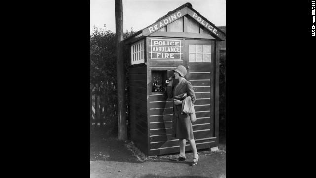 The rotary phone in this 1930s Reading, Pennsylvania, police box could be usd to summon police, ambulance or fire services at a moment's notice.