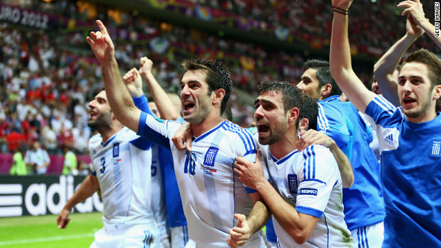 Russia were also condemned to an early exit after 2004 champions Greece stunned Dick Advocaat's team by winning 1-0 and reaching the last eight.