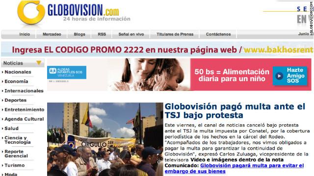 Globovisión paga multa para evitar un embargo ordenado por la Corte de Venezuela