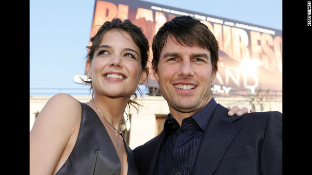 Holmes and Cruise are all smiles at the premiere of &quot;Batman Begins&quot; in 2005.