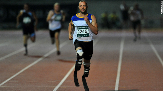 Oscar Pistorius in action during the National Championships for the Physically Disabled in Durban on March 27.