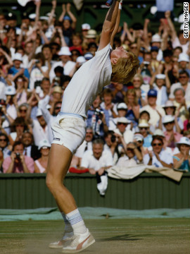 Boris Becker won the Queen's Club championship in the buildup to Wimbledon in 1985, but nobody could have predicted what followed. The unseeded German embarked on a run of wins which culminated in a four-set victory over American Kevin Curren, making the 17-year-old Wimbledon's youngest men's singles champion.