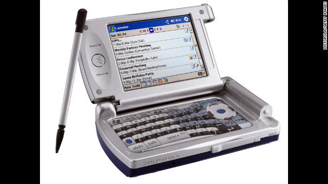 Motorola's MPx wireless device, released in the second half of 2004, took the smartphone to a new level with Wi-Fi capabilites and a fully functional keyboard.