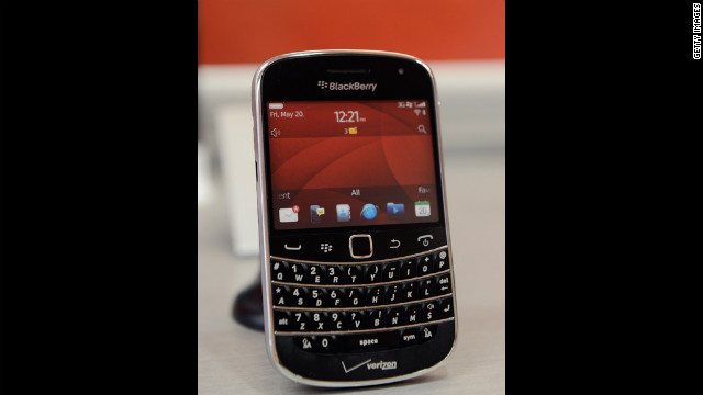 "The BlackBerry Bold 9930, shown here, continues a long line of BlackBerry devices so popular they have commonly been dubbed ""crackberries."" They are also popular smartphones for business applications because of their fully functional keyboards and advanced e-mail capabilities."