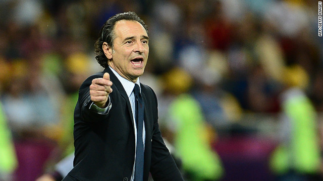 """We came up against a terrific side. They're world champions. Obviously, when you go down to 10 men, the game's over,"" said Italy coach Cesare Prandelli.<br/><br/>"