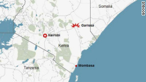 Sunday\'s blasts happened at two churches in the Kenyan town of Garissa, close to the border with Somalia.