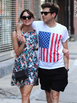 Keira Knightley and her fiance James Righton walk around New York City.