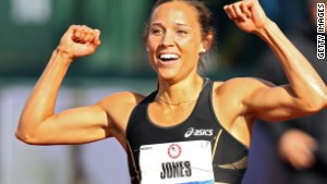 U.S. track and field star Lolo Jones.