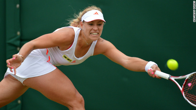 Eighth seed Kerber, also a quarterfinalist at last month's French Open, reached the last eight in London for the first time after beating former world No. 1 Kim Clijsters.