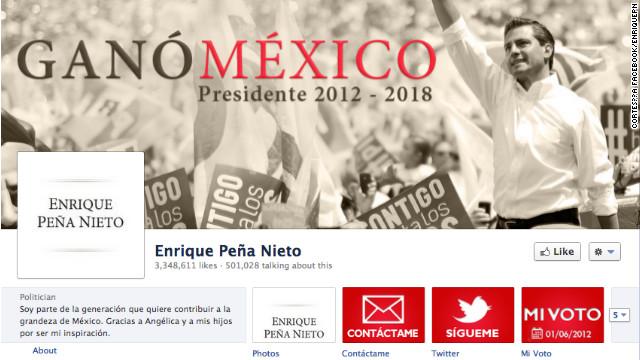 Peña Nieto se declara ganador en México por medio de sus redes sociales