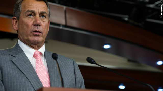 House Speaker John Boehner spoke with the media soon after the Supreme Court's ruling last Thursday. 