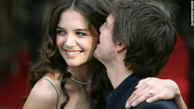 In June 2005, actress Katie Holmes flashed her engagement ring at the London premiere of &quot;War of the Worlds.&quot;