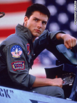 "Cruise's Maverick saved the day and got the girl in 1986's ""Top Gun."" In real life, the actor married Mimi Rogers in May 1987. They divorced in 1990. Emilio Estevez, Cruise's ""Outsiders"" co-star, was the best man at their wedding, according to<a href='http://www.people.com/people/archive/article/0,,20096360,00.html' target='_blank'> People.</a>"