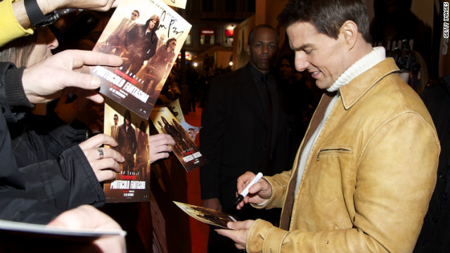 Cruise greeted fans at the Madrid premiere of &quot;Mission Impossible -- Ghost Protocol&quot; in 2011.