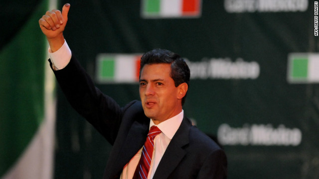 Mexico's incoming president Enrique Pena Nieto will meet with President Obama on Tuesday.