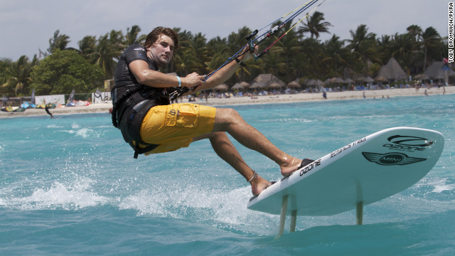 "The current world number one kiteboarding course racer, Johnny Heineken, said he was ""super excited"" about the prospect of competing in the Olympics. The 23-year-old American grew up sailing and windsurfing in San Francisco Bay and says he has never been injured when kiteboarding."