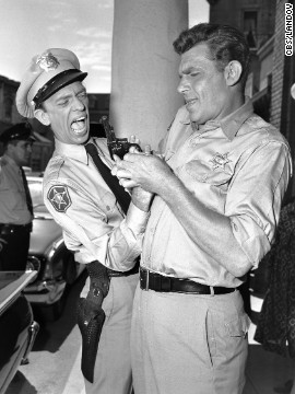 Griffith and Don Knotts were beloved co-stars in the CBS television series &quot;The Andy Griffith Show&quot; from 1960 through 1968.