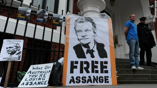 WikiLeaks founder Julian Assange has been holed up in the Ecuadorian Embassy in London since last month.
